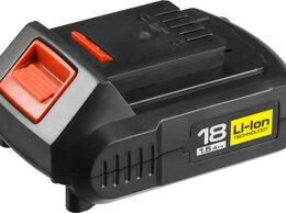 Аккумуляторы и зарядные устройства - ЗАРЯДКА И 2 АКБ ЗУБР 18В, 0