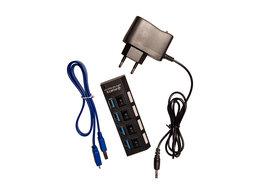 USB-концентраторы - USB hub 3.0 x 4 с питанием, 0