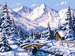 Картины, постеры, гобелены, панно - Картина по номерам GX 32092 Зимнее предгорье 40*50, 0