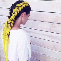 Аксессуары для волос - Канекалоны-косы, желтые, 0