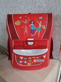 Рюкзаки, ранцы, сумки - Школьный рюкзак + фартук + закладки, 0