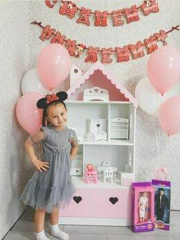 Хранение игрушек - Кукольный домик Стеллаж с ящиком детский, 0