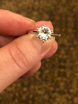 Кольца и перстни - Кольцо с бриллиантом синтетическим в 1 карат, 0