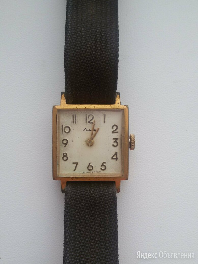 "Часы наручные ""Луч"" 1800 СССР на 16 рубинов камнях по цене 400₽ - Наручные часы, фото 0"
