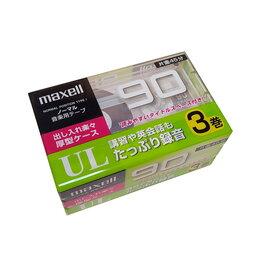 Музыкальные CD и аудиокассеты - Аудио кассеты Maxell UL-90 тип I, блок 3 штуки, 0
