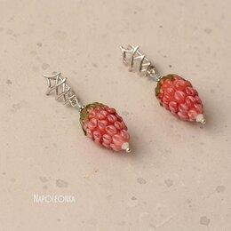 Серьги - Серьги с ягодками из стекла и элементами…, 0