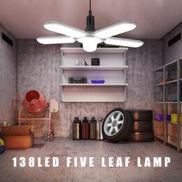 Люстры и потолочные светильники - LED светильник 500Вт 138 светодиодов 5 лопастей, 0