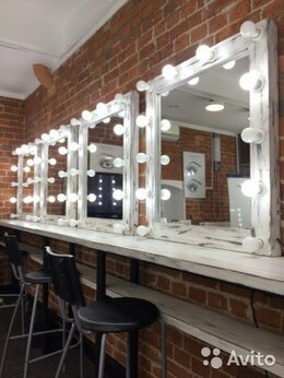 Зеркала - Зеркало с лампами диодными для макияжа, 0
