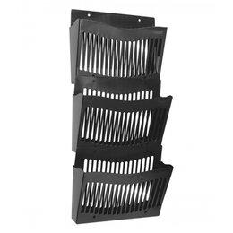 Подставки и держатели для украшений - Настенный набор из 3 лотков Стамм, черный, 0