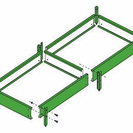Заборчики, сетки и бордюрные ленты - Ограждения для грядок 2м, 0