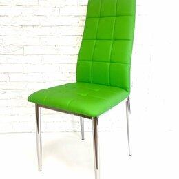 Стулья, табуретки - Стул, зеленая экокожа /хром, 0