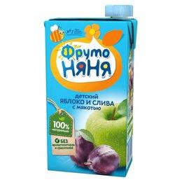 Продукты - Сок детский Фруто няня слива и яблоко 500 г, 0