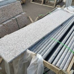 Облицовочный камень - Гранитные ступени 2610х350х30. Гранит G361. термообработанные , 0