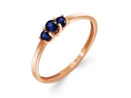 Кольца и перстни - Кольцо с 3 сапфирами из красного золота, 0