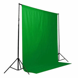 Фоны - Фон тканевый B-109 (300х500см) зелёный хромакей, 0