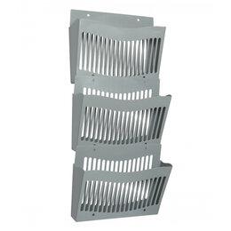 Подставки и держатели для украшений - Настенный набор из 3 лотков Стамм, серый, 0