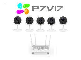 Камеры видеонаблюдения - Комплект на 5камер ezviz С1С (1080p) +Vault Plus, 0