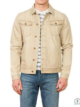 Куртки - Мужская джинсовая бежевая куртка W9297SAND, 0