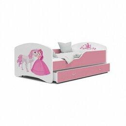 """Кровати - Кровать детская ЛДСП розовый """"Принцесса"""", 0"""