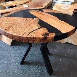 Столы и столики - Стол-река из слэба журнальный с эпоксидной смолой, 0