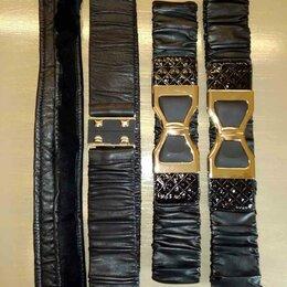 Ремни, пояса и подтяжки - Черный ремень резинка из натуральной кожи, пояс для шубы, разные ремни, 0