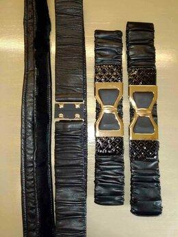 Ремни и пояса - Черный ремень резинка из натуральной кожи, пояс…, 0