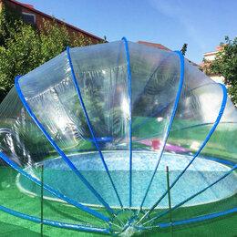 Павильоны для бассейнов - Складной купол павильон для бассейна Летотент 650 круглый (9 дуг), 0