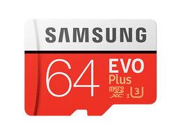 Карты памяти - Карта памяти Samsung EVO Plus (microSDXC) 64Gb…, 0