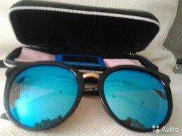 Очки и аксессуары - Модельные поляризованные очки Chanel 55099 синие, 0
