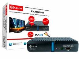 ТВ-приставки и медиаплееры - Цифровой приемник ТВ DVB-T2 D-Color DC902HD, 0