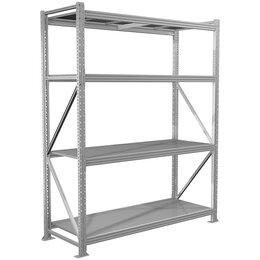 Мебель для учреждений - Стеллаж Практик MS Pro 200/180*60/4 полки, серый (ПОД ЗАКАЗ), 0