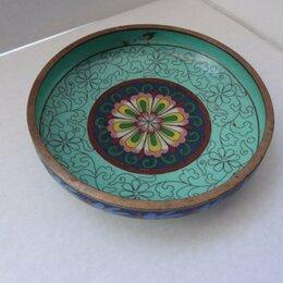 Декоративная посуда - Вазочка клуазоне , Китай, диаметр 12 см (с дефектом), ваза, 0