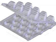 Контейнеры и ланч-боксы - Упаковка для перепелиных яиц (входит 18 яиц), 0