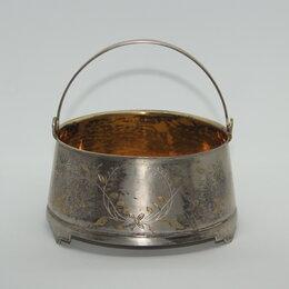 Декоративная посуда - Антикварная серебряная конфетница/бисквитница,…, 0