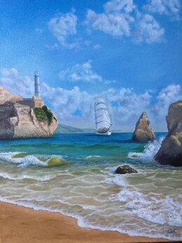 """Картины, постеры, гобелены, панно - Картина """"Море, корабль"""", 0"""