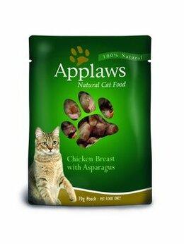Корма  - APPLAWS Консервы для кошек «Курица со спаржей»,…, 0