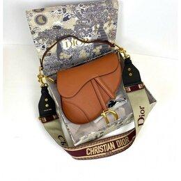 Клатчи - Сумка Christian Dior Saddle Bag женская кожаная коричневая новая, 0