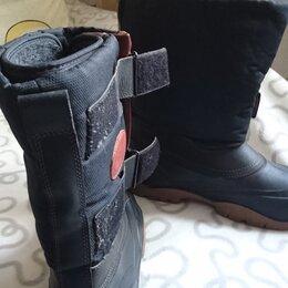 Одежда и обувь - мужские резиновые зимние сапоги на липучке, 0