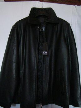 Куртки - Куртка кожанная  мужская весна-осень черная…, 0