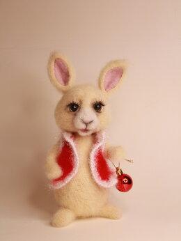 """Новогодние фигурки и сувениры - Интерьерная игрушка """"кролик Банни"""", 0"""