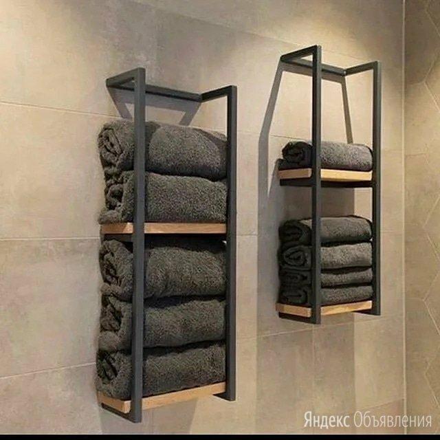 Полка лофт для ванной комнаты по цене 4000₽ - Полки, стойки, этажерки, фото 0