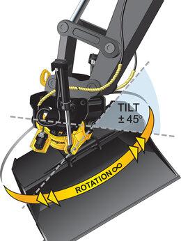 Грузоподъемное оборудование - Тилтротатор Engcon для экскаватора - рототилт, 0