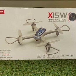 Квадрокоптеры - Квадрокоптер Syma X15W с FPV трансляцией Wi-Fi, камера 0,3 Мп, 2.4G RTF, 0