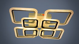 Люстры и потолочные светильники - Светильник LED потолочный 8036/4+4 192W с ПДУ, 0