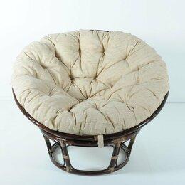 """Плетеная мебель - Кресло с подушкой темно-коричневое из ротанга """"Темный коньяк"""" Papasan 23/01, 0"""