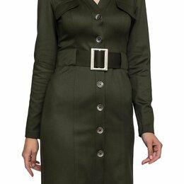 Платья - Платье с поясом. 46-48, 0
