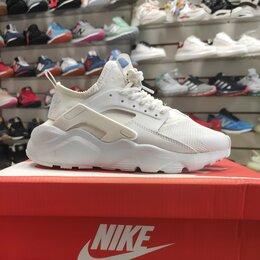 Кроссовки и кеды - Кроссовки Nike Huarache женские/полностью белые, 0