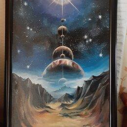 """Картины, постеры, гобелены, панно - Картина маслом """"Парад планет"""", 0"""