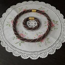 Рукоделие, поделки и сопутствующие товары - Продам колье и браслет из бисера preciosa, 0