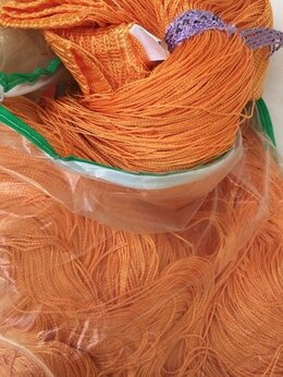 Шторы - Нитяная штора Portgallery однотонная оранжевая…, 0